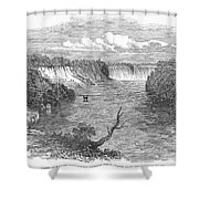 Niagara Falls, 1849 Shower Curtain