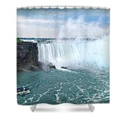 Niagara Falls And The Bubbles Shower Curtain