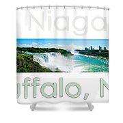 Niagara Falls Day Panorama Shower Curtain