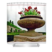Niagara Falls Floral Urn Shower Curtain