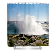 Niagara Falls From Above Shower Curtain