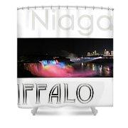 Niagara Falls Postcard Shower Curtain