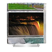 Niagara Falls Usa Triptych Series Shower Curtain