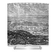Nice, France, 1863 Shower Curtain