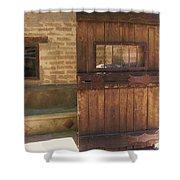 Nice Old Door Shower Curtain