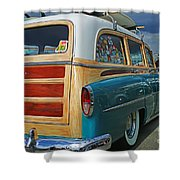 Nice Old Woody Shower Curtain