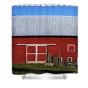 Nice Red Barn Shower Curtain