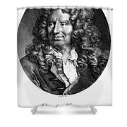 Nicolas Boileau (1636-1711). French Critic And Poet. Lithograph, French, 19th Century Shower Curtain