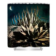 Night At The Desert's Edge Shower Curtain