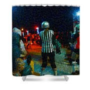 Night At The Roller Derby Shower Curtain