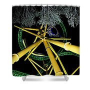 Night Cheetah Shower Curtain