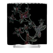 Night Flight Shower Curtain