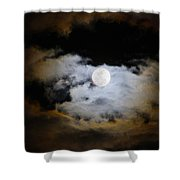 Night Of The Full Moon Shower Curtain