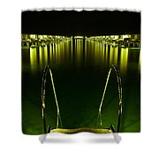 Night. One Day In Paradise. Maldives Shower Curtain