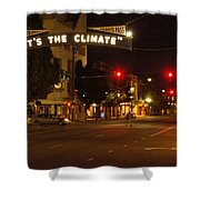 Night Scene At 6th And G Shower Curtain