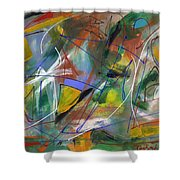 Night Songs Shower Curtain