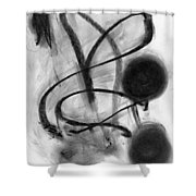 Night Timer Shower Curtain