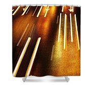 Night Traffic Shower Curtain by Carlos Caetano