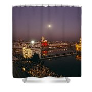 Night View Of Amritsar Shower Curtain