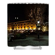 Night View Of St Katherines Dock London Shower Curtain