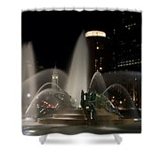 Night View Of Swann Fountain Shower Curtain