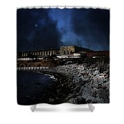 Nightfall Over Hard Time - San Quentin California State Prison - 5d18454 Shower Curtain