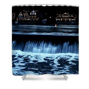 Nighttime At Boathouse Row Shower Curtain
