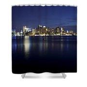 Nighttime Boston Skyline Shower Curtain