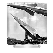 Nike Missile, C1959 Shower Curtain by Granger