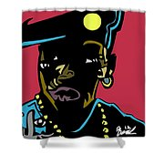 Nino Brown Full Color Shower Curtain