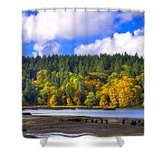 Nisqually Wildlife Refuge P24 Shower Curtain