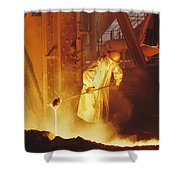 No Captions Shower Curtain