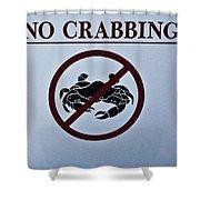 No Crabbing Shower Curtain