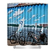 No Fossil Fuels Required Shower Curtain