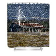 No Matter The Weather-work Goes On Shower Curtain