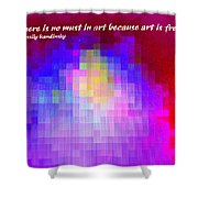 No Must In Art Shower Curtain