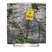No Parking Shower Curtain