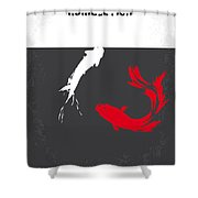 No073 My Rumble Fish Minimal Movie Poster Shower Curtain