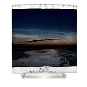 Noctilucent Clouds And Shooting Star Shower Curtain