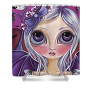 Nocturnal Moon Shower Curtain