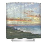 Norfolk Coast Shower Curtain