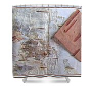 Normand's  Birch Bark  Shower Curtain