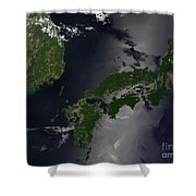 North And South Korea, And The Japanese Shower Curtain