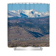 North Boulder Colorado Front Range View Shower Curtain