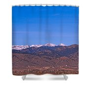North Boulder County Colorado Full Moon View Shower Curtain