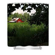 North Carolina Farm Shower Curtain