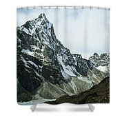 North Face Of Cholatse Peak Towers Shower Curtain
