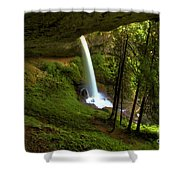 North Falls Cavern Shower Curtain