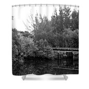 North Fork River Shower Curtain