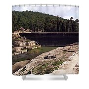 North Pool Shower Curtain